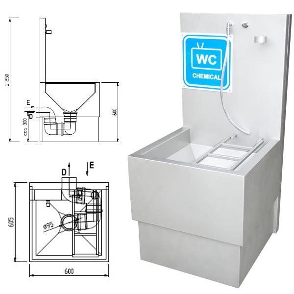 Stortbak Chemisch Toilet.Recreatie Techniek Uitstorttafel Mobiele Toiletten